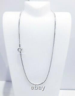 Nouveau Collier Authentique Pandora 925 Silver Moment Logo Snake Chain Collier 590742hv 45 50