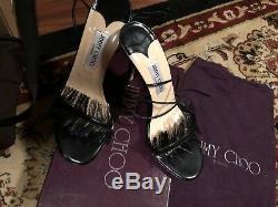 Nouveau! Dans Black Box 100% Heels Authentique Jimmy Choo Mode Taille 40