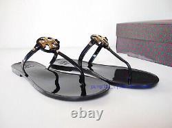 Nouveau Dans Box Tory Burch Mini Miller Jelly Thong Sandals Black Us 9 Authentic