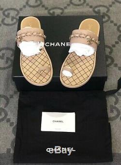 Nouveau Dans La Boîte 100% Authentique Chanel Thong Sandales En Cuir Vachette Sz 42 Us 11