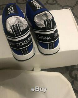 Nouveau Dans La Boîte 100% Authentique Chaussures Dolce & Gabbana Taille 37 Bleu Et Noir