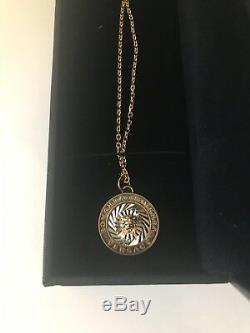 Nouveau Dans La Boîte Authentique Versace Métal Plaqué Or Medusa Collier Pendentif Italie