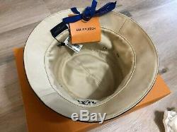 Nouveau Dans La Boîte Louis Vuitton LV Denim Chapeau Cloche Sz L Reversible 100% Authentique