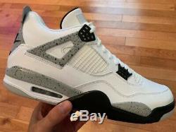 Nouveau Etui Air Jordan Retro Ciment 4 Og Blanc Gris Taille 12 Authentique 2016