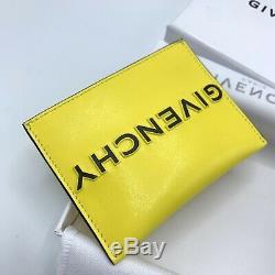 Nouveau Givenchy Jaune Et Noir Inversée Logo Porte-cartes Avec La Boîte Authentique