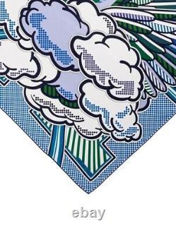Nouveau In Box Authentique Hermès Pegase Pop Écharpe 70cm 28 Soie Bleue