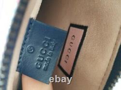 Nouveau Sac D'embrayage Authentique Gucci Ghost Print Pouch Bag Bleu Rouge Avecbox