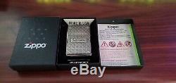 Nouveau Suprême Diamond Plate Zippo Es19 En Boîte Authentique Bogo Argent Métal