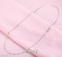 Nouvelle Boîte Collier Authentique En Or Blanc 18 Carats Femme Perfect Lien Fine Chaîne 15.7l