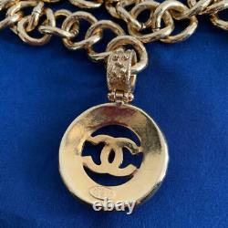 Nouvelle Ceinture D'or Chanel Vintage Authentic 88cm Rare Withtag Box