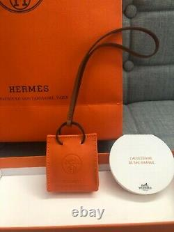Nouvelle Marque Hermes Orange Sac Sac Charm 100% Authentique Avec Boîte + Tout L'emballage