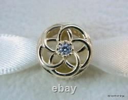 Nwt Authentic Pandora Charm 14k Loving Blooms #750598cz Hinged Box Retired
