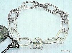 Nwt Authentique Pandora Bracelet Me Collection Mon Lien # 598373 Chunky Box Charnière