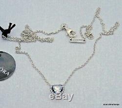 Nwt Authentique Pandora Collier Elevated Coeur # 398425c01 Boîte Charnière