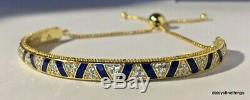 Nwt Shine Authentique Pandora Bracelet Pierres Exotiques Et Rayures # 2 568051cz-box