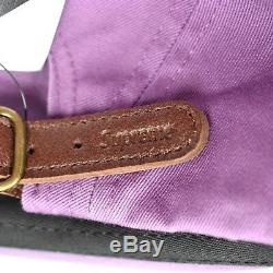 Nwt Supreme Ny Logo Purple Box Hommes Washed Twill Camp Cap Hat Fw18 Ds Authentique