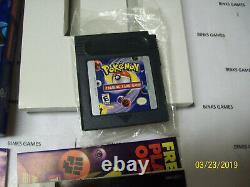Pokemon Trading Card Gameboy Couleur Complète Dans La Boîte Authentique Nouvelle Batterie