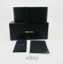Prada Unisexe Rectangulaire Noir Lunettes De Soleil Authentique Avec Boîte 03v 1ab-spr 5o0 57mm