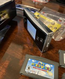 Prestige Con. Gameboy Micro Avec Boîte Et Chargeur Original Authentic Leafgreen