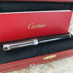 Rare Authentique Cartier Fontaine Pen Pacha Barcode Gold Nib Withbox & Paper (mint)