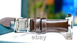 Seiko Présage Cadran Brun Bracelet En Cuir Montre Automatique Ssa407 Authentic