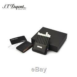 St Dupont En Cuir Cigarillos / Étui À Cigarettes 0180325 Neuf Dans La Boîte 100% Authentique