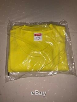 Suprême Bandana Bogo Box Logo T En Jaune Taille Moyenne Main 100% Authentique
