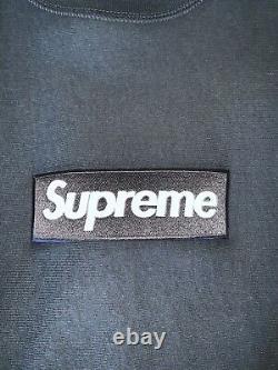 Supreme Box Logo Sweat-shirt Ras Du Cou Marine Grand Fw18 100% Authentique