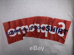 Suprême Comme Des Garcons Cdg Shirt Box Logo Tee Blanc Es17 Taille Grand Authentique