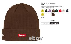 Supreme X New Era Hq Box Logo Beanie Brown Fw19 Nwt Authentic Winter Hat Cap