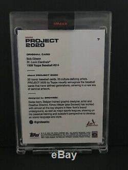 Topps 2020 Projet Bob Gibson Carte # 7 Grotesk Pr 1,205 Withbox Rare