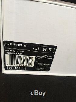 Vans Syndicate Wtaps Ailes Jaune Authentique 9.5 Rare Sk8 Vtg Box Logo Vault Salut