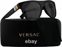 Versace Noir/gris Ve4346 Gb1/87 Lunettes De Soleil 57mm! Nouveaut En Box! Authentique