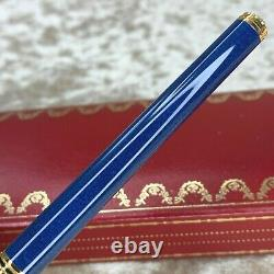 Vintage Authentic Cartier Fountain Pen Trinity Blue Marble Withbox&papers (unused)