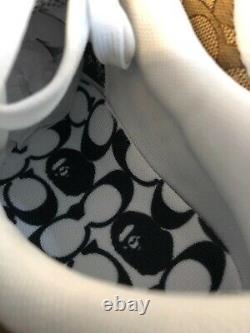 X Bape Coach Bape Sta Chaussures Beige Camo Hommes 9.5 Authentique Box W Balises
